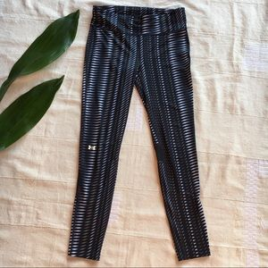 Under Armour Fly By long leggings black gray print